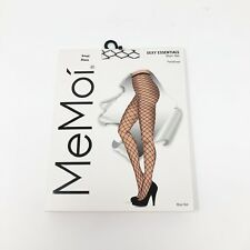 MeMoi Black Maxi Net Size Small Panty Hose Sexy Essentials NEW