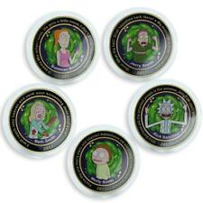 Rick and Morty 1 schmeckel set of 5 coins Family of heroes black humor 2017