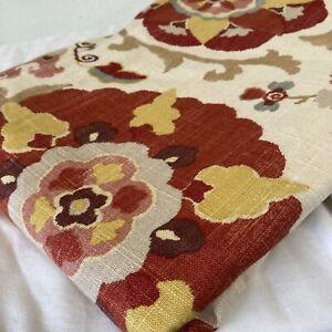 Custom Made Shower Curtain 72x72 Unllined Jacobean Floral Cotton Decor Fabric