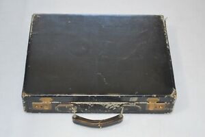 Gucci Vintage Black Leather Distressed Old Briefcase Document Bag Mens Unisex