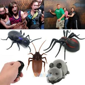 Remote Control Mock Fake Cockroach RC Toys Prank Spider Joke Scary Trick Bugs