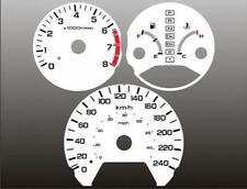 1998-2002 Honda Accord METRIC Dash Cluster White Face Gauges KMH KPH