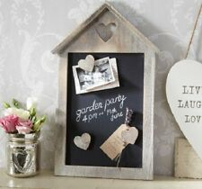 Limewash Memo Blackboard 40cm with Three Magnetic Love Hearts Wall Mounted