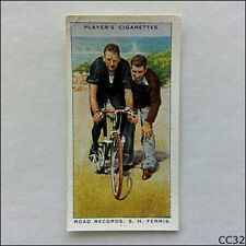 John Player Cycling #49 Road Records S.H. Ferris 1939 Cigarette Card (CC32)