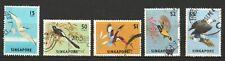 SINGAPORE 1963 BIRDS DEFINITIVES SEA EAGLE, SUNBIRD, KINGFISHER SET 5 STAMP USED