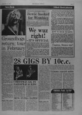 David Bowie Rock Music Clippings, Cuttings & Articles