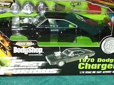 "ERTL 1970 DODGE CHARGER MODEL KIT 1/18 ""FAST & FURIOUS""  BLACK ""BODY SHOP"""