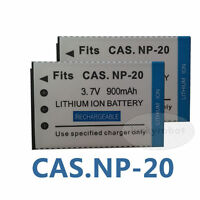 2pcs Battery FOR CASIO NP-20 Exilim NP20 EX-Z4 EX-Z60 EX-Z70 EX-Z18 camera