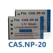 2pcs Battery FOR CASIO NP-20 Exilim NP20 EX-Z4 EX-Z60 EX-Z70 EX-Z18 camera