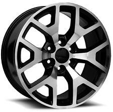"4 20"" Machined Black GMC Yukon Tahoe Silverado Suburban Escalade Wheels Rims"