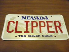Embossed vintage metal License Plate NEVADA CLIPPER tag old stock