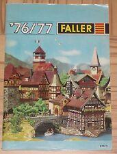 Faller -- Modellbau Jahres Katalog 1976/77  3-sprachig, engl-franz-niederl !
