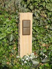 Außensteckdose, Gartensteckdose aus Sandstein, Naturstein, Steckdose