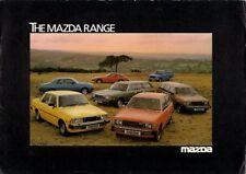 Mazda 1980 UK Market Foldout Sales Brochure 323 Montrose 929 RX7 B1800