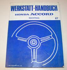 Werkstatthandbuch Honda Accord - Nachtrag 1987!