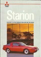 COLT MITSUBISHI STARION SALES BROCHURE OCTOBER 1986 FOR THE 1987 MODEL YEAR