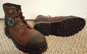"""NEW Timberland Pro Caprock Alloy Toe Work Boots - Waterproof, Leather, 6"""""""