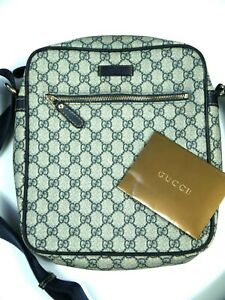 Gucci Shoulder Bag Messenger Mens Cross Body GG Monogram