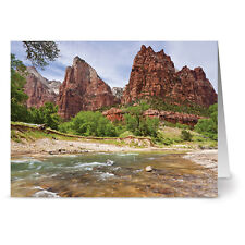 24 Note Cards - River Rock Formation - Off White Ivory Envs