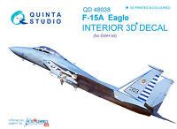 Quinta QD48038 1/48 F-15A 3D-Printed & coloured interior for GWH kit