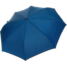 MOSCHINO Blue Automatic Umbrella Logo Design