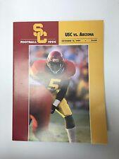 1994 USC TROJANS SOUTHERN CALIFORNIA VS ARIZONA FOOTBALL PROGRAM NCAA