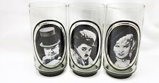 Arby's Collector Series 1970's Vintage Comedian Drinking Glasses Set of 3