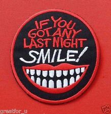Patch Lo go SMILE  sew on jackets or hat+for gift handmad