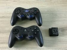 2 Logitech Playstation 2 Wireless Controllers & 1 Receiver Dongle B118