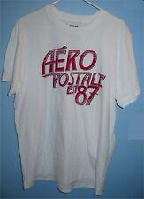 Men's XL Aeropostale AERO POSTALE EST 87 Cotton Crew T Shirt White Red