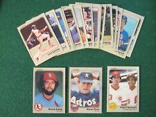 1983 Fleer Baseball Card Lot (19) Near Mint NM: Nolan Ryan, Sutter, Concepcion