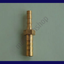 1/8 X 1/4 (4mm X 6mm) Union Hose Barb Brass Fitting Splicer Gas Fuel Reducer