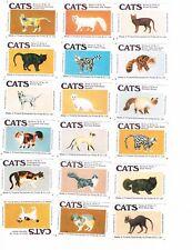 Set of 18 Cornish Match matchbox labels depicting Cats Ac45.