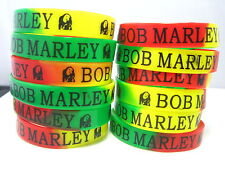 24 pieces Bob Marley RASTA rubber wristbands band bracelets free post