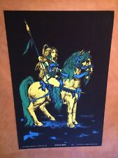 Attila's Mate Vintage Houston Blacklight  Poster Psychedelic 1969 Woman Horse 69