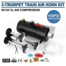 Train Luft Horn Kit mit 12V 150PSI Luft Kompressor Komplettsystem Huge Sound Neu