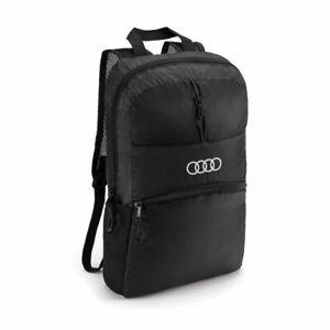 Audi Sport Backpack Foldable, Black Genuine