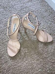 **Steve Madden Feliz High Heels, Women's Size 6M, Natural