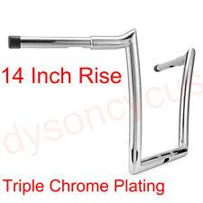 Chrome 1.25' Fat 14' Ape Monkey Hanger Handle Bar Polished For Road Glide 15+