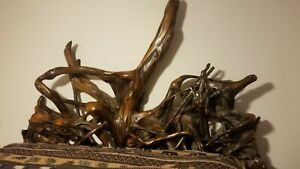 Rustic Solid wooden Bed Frame Hand Crafted by a Loco Craftsman One of a kind.