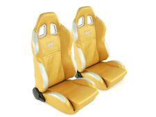 FK Sportsitze Auto Halbschalensitze Set New York gold/silber in Motorsport-Optik
