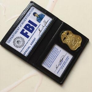 Detectiv Conan FBI Agent Shuichi Akai Cosplay Black Faux Leather ID Card Holder