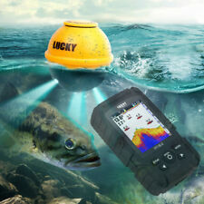 """Lucky 2.8"""" Color Screen Wireless Sonar Echo Sounder 45M Fish Finder & Flash Lamp"""