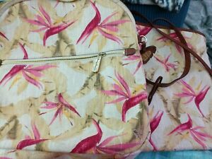 Tommy Bahama SET: DESTIN Backpack & Tote: Island Bird O Paradise Hawaiian Floral