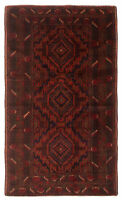 """Vintage Hand-Knotted Carpet 3'10"""" x 6'5"""" Traditional Oriental Wool Area Rug"""