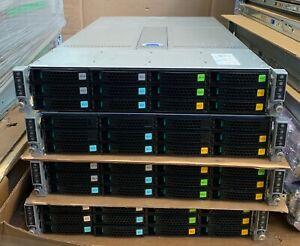 2U Intel H2312XXKR2 12 Bay LFF 4 Node 8x E5-2620 v3 128GB 12Gbp RAID 8x 10GB SFP