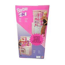 BARBIE 2in 1 accessori 11426 Mattel ,credenza cucina doppio gioco vintage