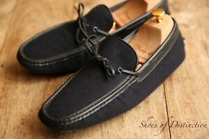 Men's Tod's Tods Navy Blue Driving Shoes Loafers UK 9.5 US 10.5 EU 43.5