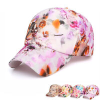 Men Women Baseball Cap Flowers Print Cotton Snapback Hats Floral Embroidery Hat