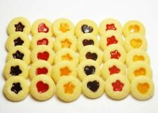 30 Mixed Dollhouse Miniature Jam Dot Cookies* Doll Food Bakery Cookie Biscuit